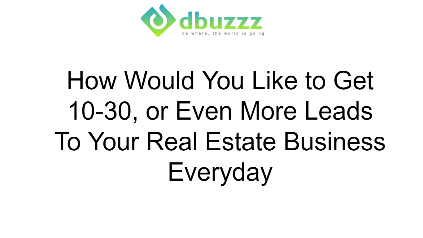 Real Estate Free Training